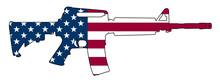 American Flag Gun Semi-Automat...