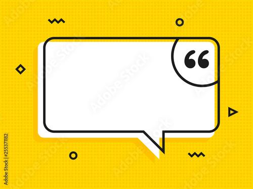 Fotografía  Quote text bubble. Commas, note, message and comment Vector
