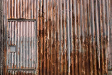 An Old Corrugated Steel Wall