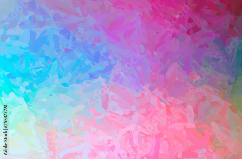 Photo  Abstract illustration of pink Impressionist Impasto background