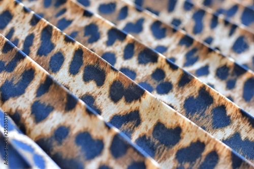 Fotografia, Obraz  Blurred pleated fashion fabric with leopard colorful seamless print