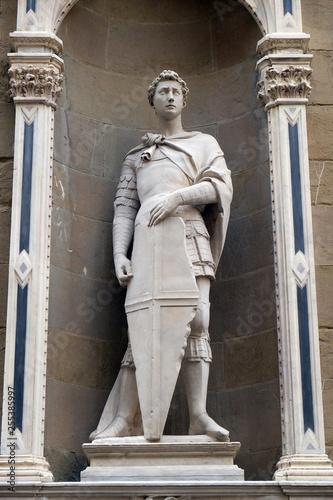 Платно Saint George by Donatello, Orsanmichele Church in Florence, Tuscany, Italy