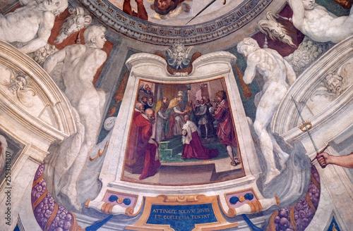 Episodes of the life of Cosimo I de 'Medici fresco by Bernardino Poccetti Ospeda Fototapet