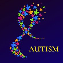 Autism Awareness Poster With A...