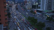 Time Lapse Of Busy Night Stree...