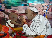 Pope Francis, Stained Glass Wi...