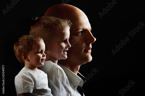 Fotografie, Tablou Man's growing up, kid, boy, guy. concept of human adulthood