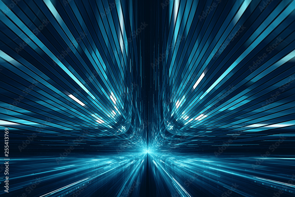 Fototapety, obrazy: Abstract digital science fiction futuristic background