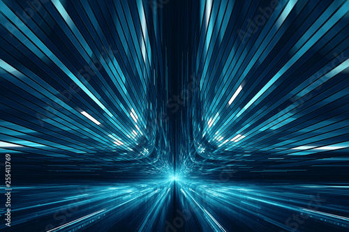 Photo Abstract digital science fiction futuristic background