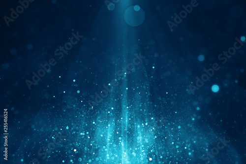 Photo Abstract blue blurry light background