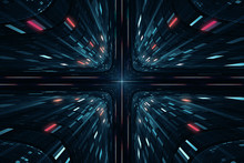 Abstract Digital Science Ficti...