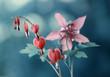 Wiosenne kwiaty na zielonym tle