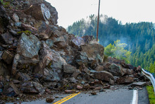 Highway Closed Rock Slide Ahead
