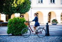Urban Biking - Woman And Bike ...
