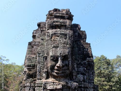 Photo sur Aluminium Monument Stone face in Bayon Temple in Angkor Thom, Cambodia