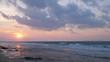Beautiful tropical beach at sunset