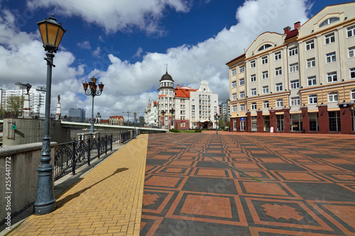 Foto  KALININGRAD, RUSSIA - 22 April 2017: View of the Fishing village - Cultural and