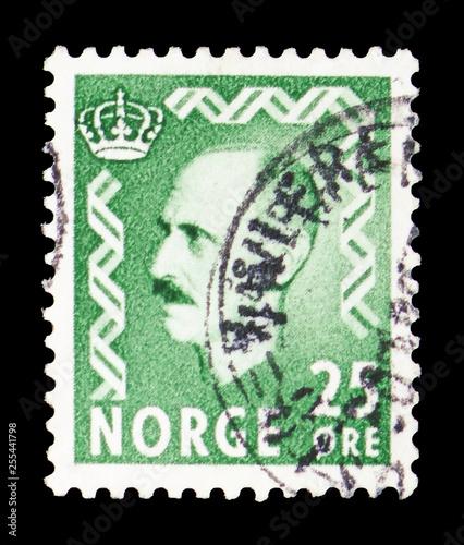 Fényképezés  King Haakon VII, serie, circa 1956