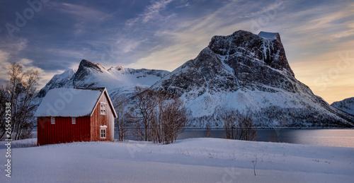 Steinfjorden red cabin
