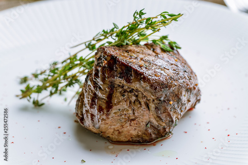 grilled steak filet Mignon Billede på lærred