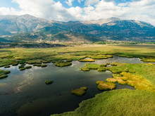 Aerial View Of Stymphalia Lake...