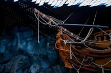 Russia, Vladivostok, July 2018: Feed Ship In Vladivostok Aquarium