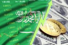 Saudi Arabia Flag And Cryptocu...