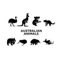 Australian Animal Logo Icon Design Vector