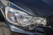 Close-up Black car headlight