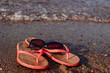 red women's beach Slippers