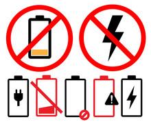 Empty Battery Icon Symbol Set ...