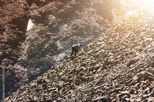 Amateur mountaineering Wallpaper Mural