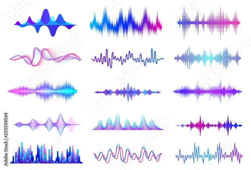 Canvas Print Sound waves
