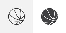 Basketball Ball Icon. Line And...