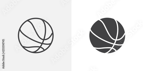 Fotografía Basketball ball icon