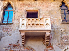 View Of The Famous Balcony Of Juliet In Verona, Italy
