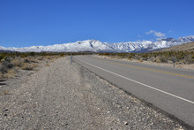 A Desert Road Leading To Mount...