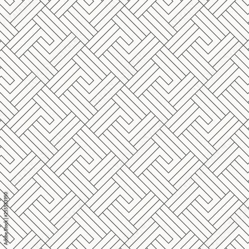 Fotografie, Obraz  Geometric vector pattern, repeating square diamond shape with stripe line