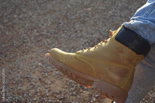 Fotografía  Botas para ir a andar a la montaña