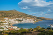 Picturesque Batsi village on Andros island, Cyclades