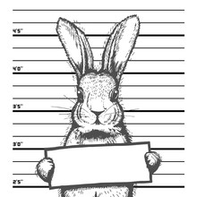 Easter Mugshot Bad Rabbit. Han...