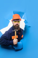 Bearded Man With Tools In Hand...