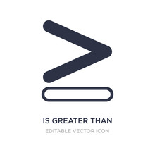 Is Greater Than Icon On White Background. Simple Element Illustration From Signs Concept.