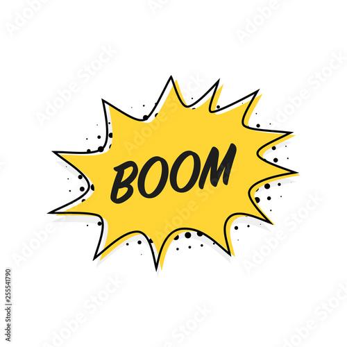 Fotografia  Bubble boom banner in flat style, line design, vector