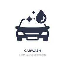 Carwash Icon On White Background. Simple Element Illustration From Signs Concept.