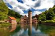 canvas print picture - Wasserschloss Mespelbrunn