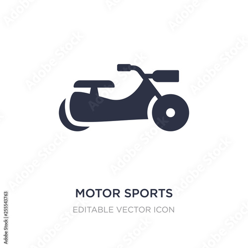 Fotografía  motor sports icon on white background