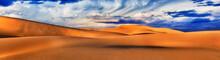 Dunes Storm Wide Clouds Pan