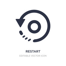 Restart Icon On White Background. Simple Element Illustration From UI Concept.