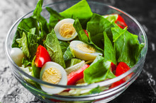 Spinach Salad With Eggs, Peppe...